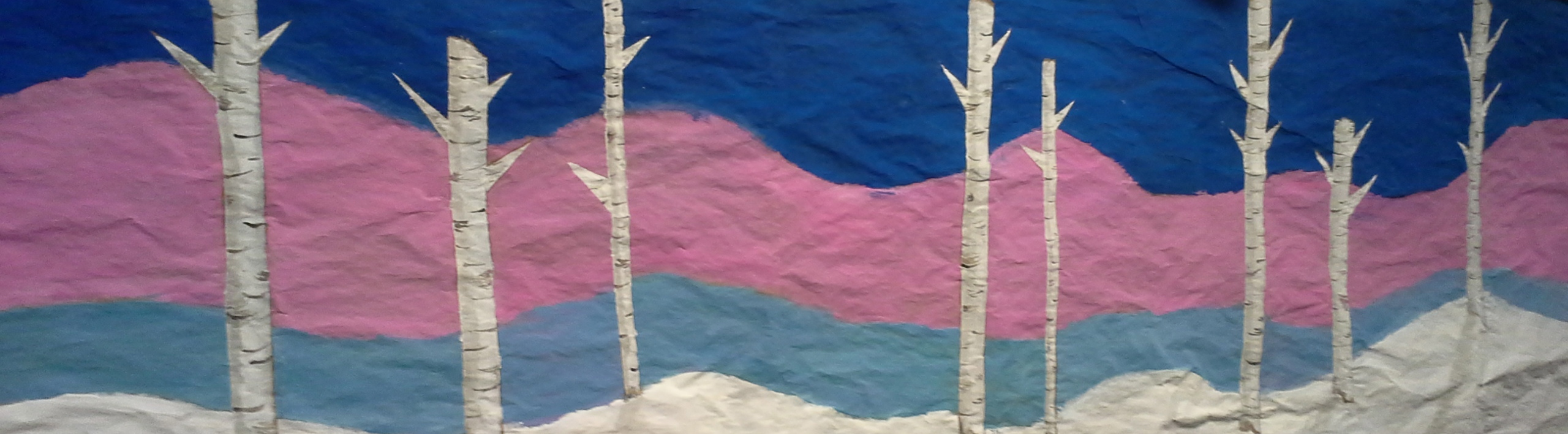 Birch Tree Mural crop