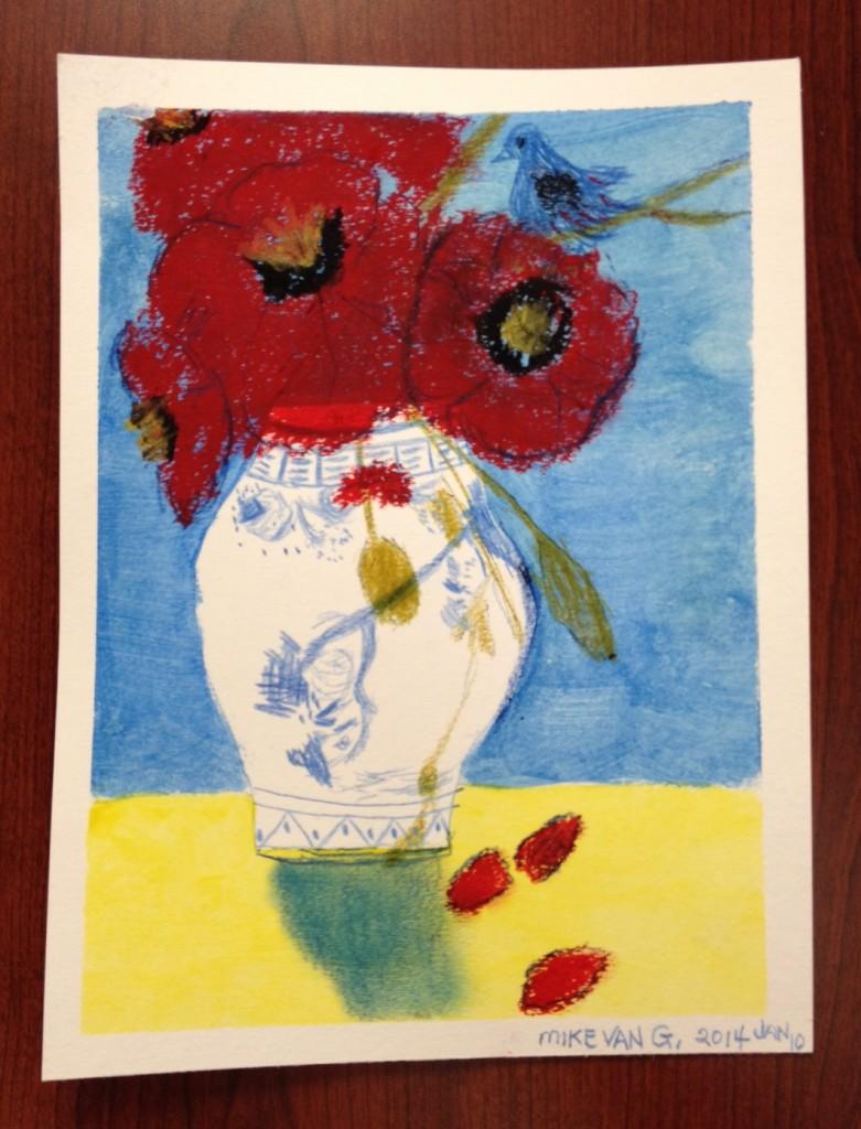Bird with Vase