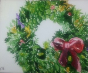 Wreath Painting