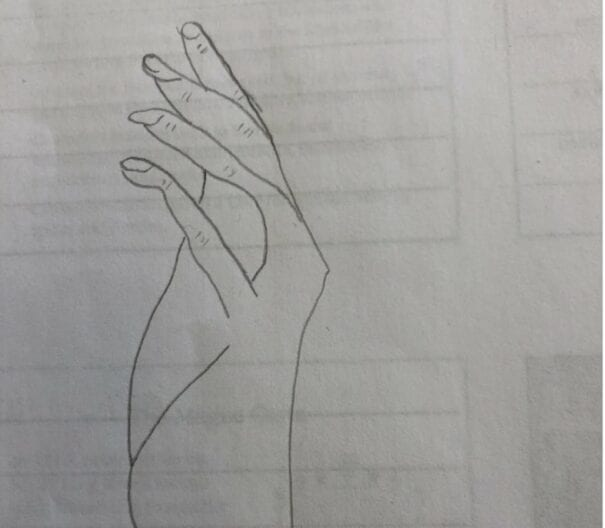 Amateur Drawing of a hand in repose