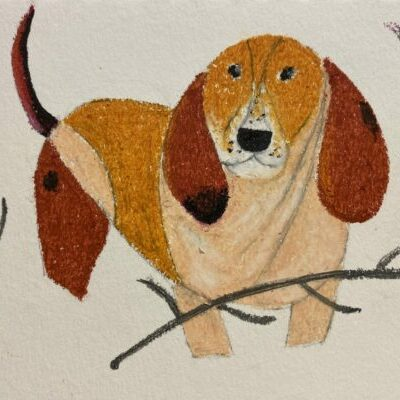 An example painting of a dog.
