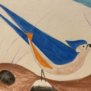 Watercolor Charley Harper Bird